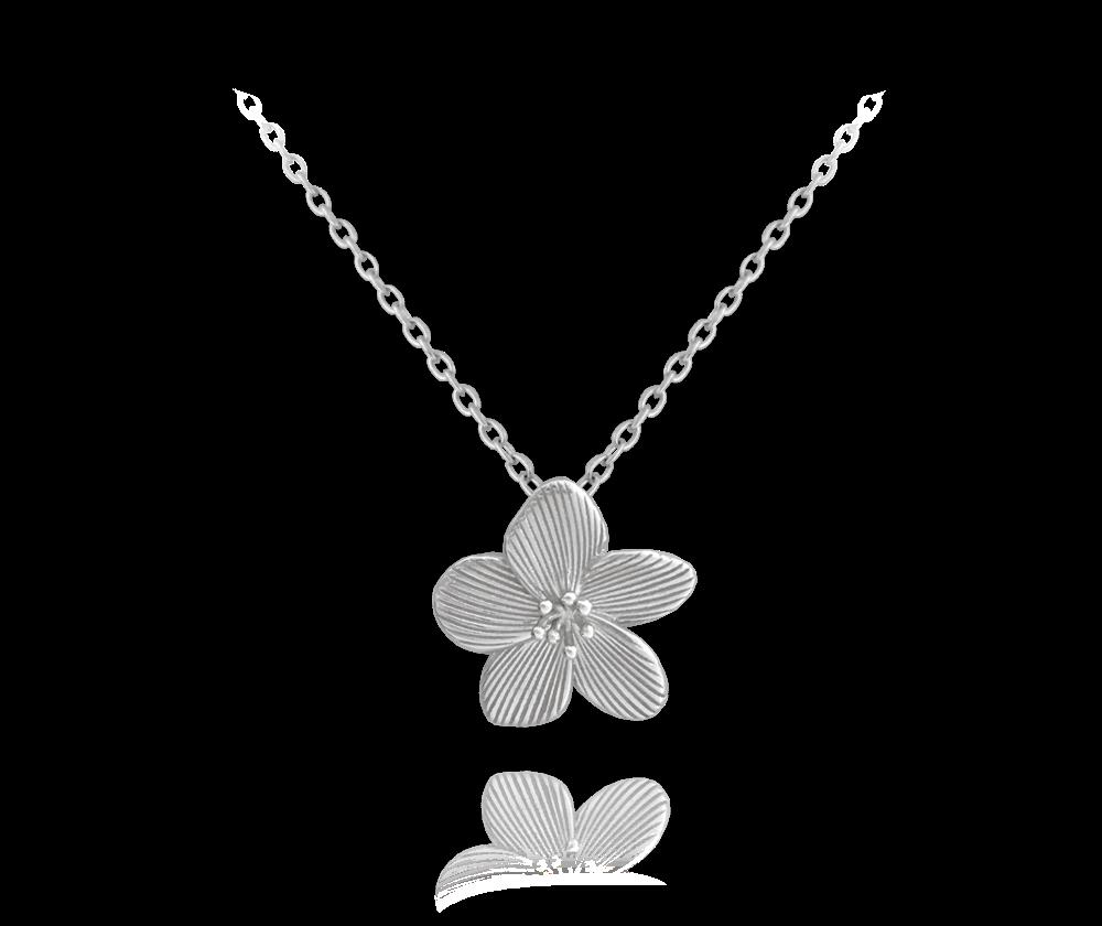 Rozkvetlý stříbrný náhrdelník MINET FLOWERS