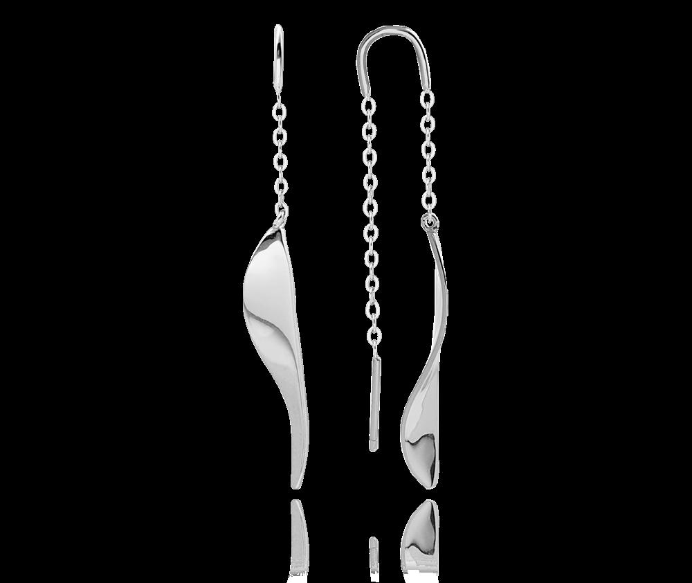 Stříbrné visací náušnice MINET