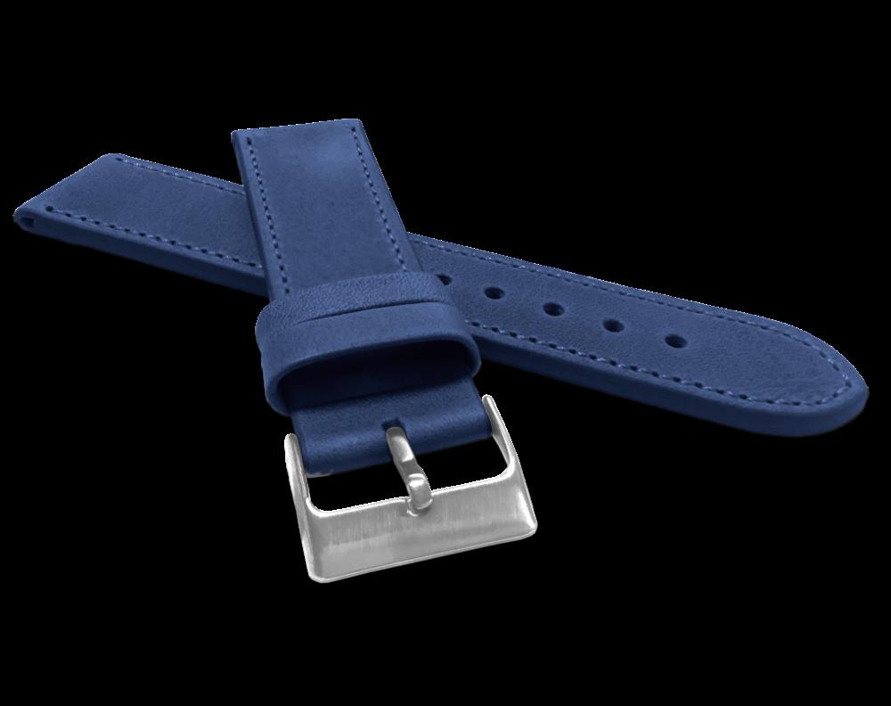 Modrý prošitý řemínek LAVVU SPORT z luxusní kůže Top Grain - 22
