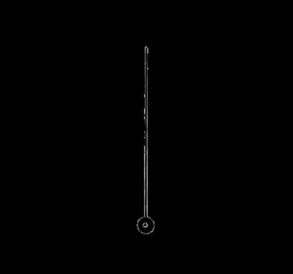 Černá sekundová ručička 80 mm