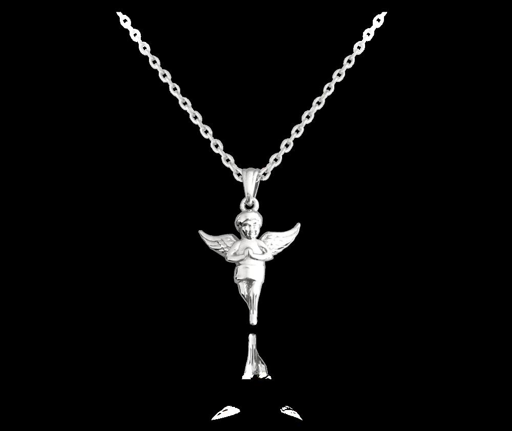 MINET Stříbrný náhrdelník MINET ANDÍLEK JMAN0187SN45