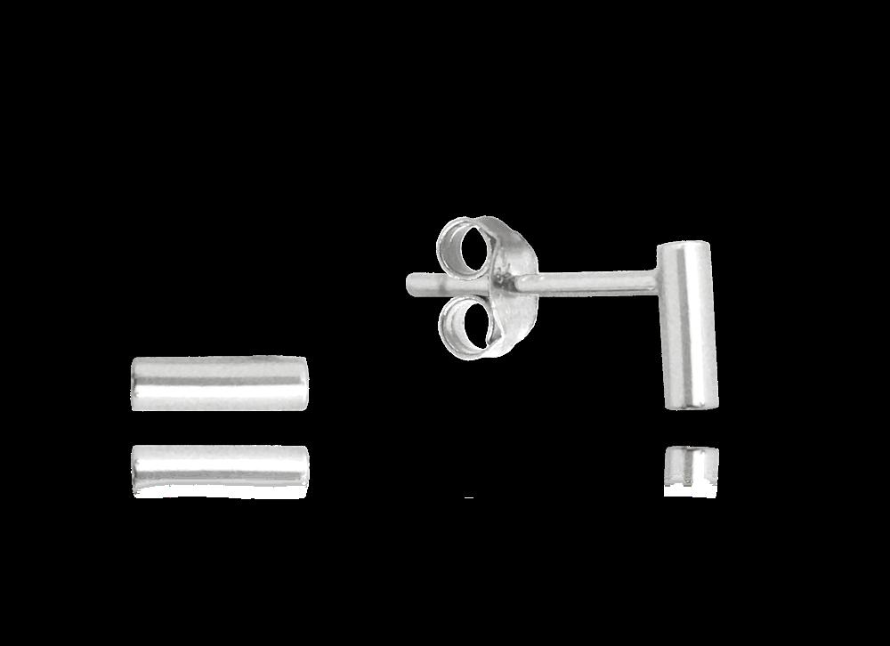 MINET Minimalistické stříbrné náušnice MINET TYČKY JMAN0196SE00