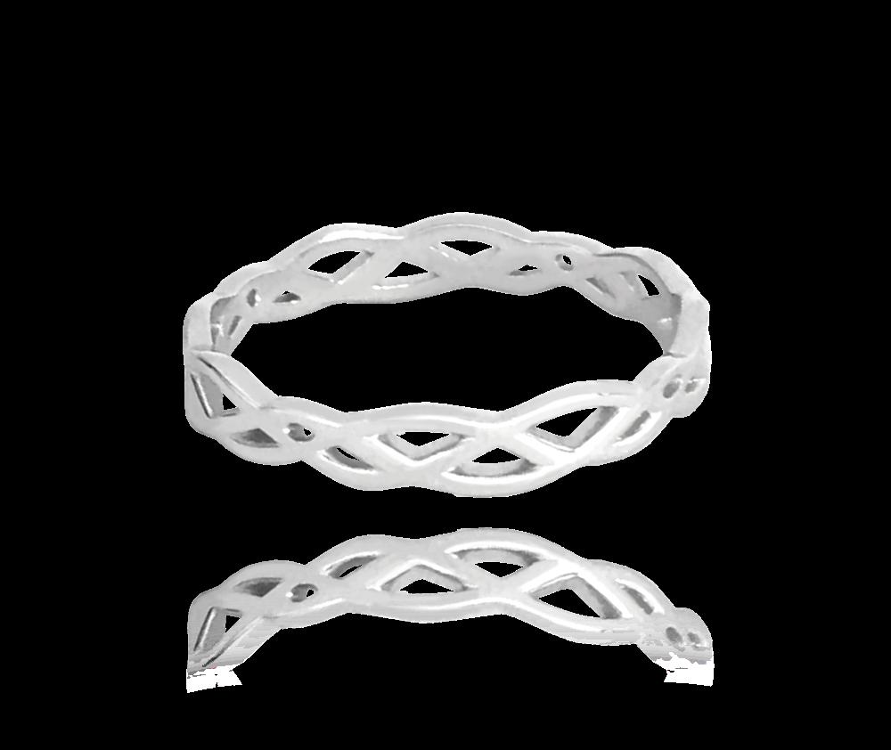 Propletený stříbrný prsten MINET vel. 47
