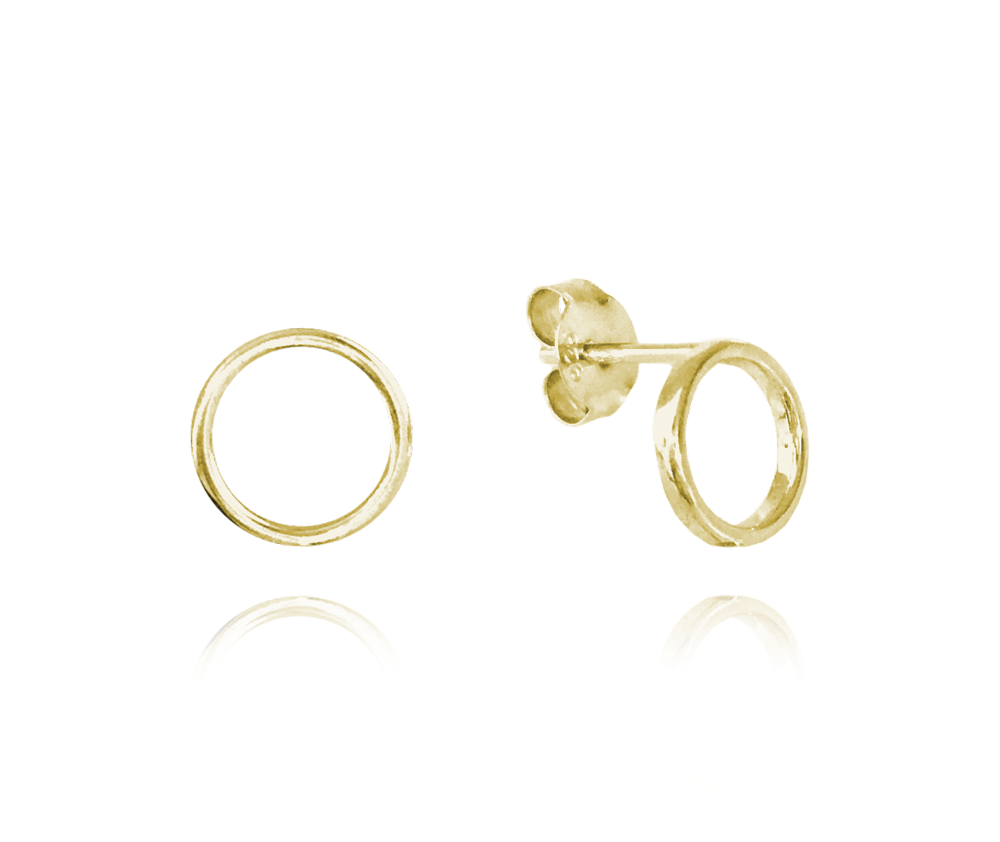 MINET Minimalistické pozlacené stříbrné náušnice MINET KROUŽKY JMAS0089GE00