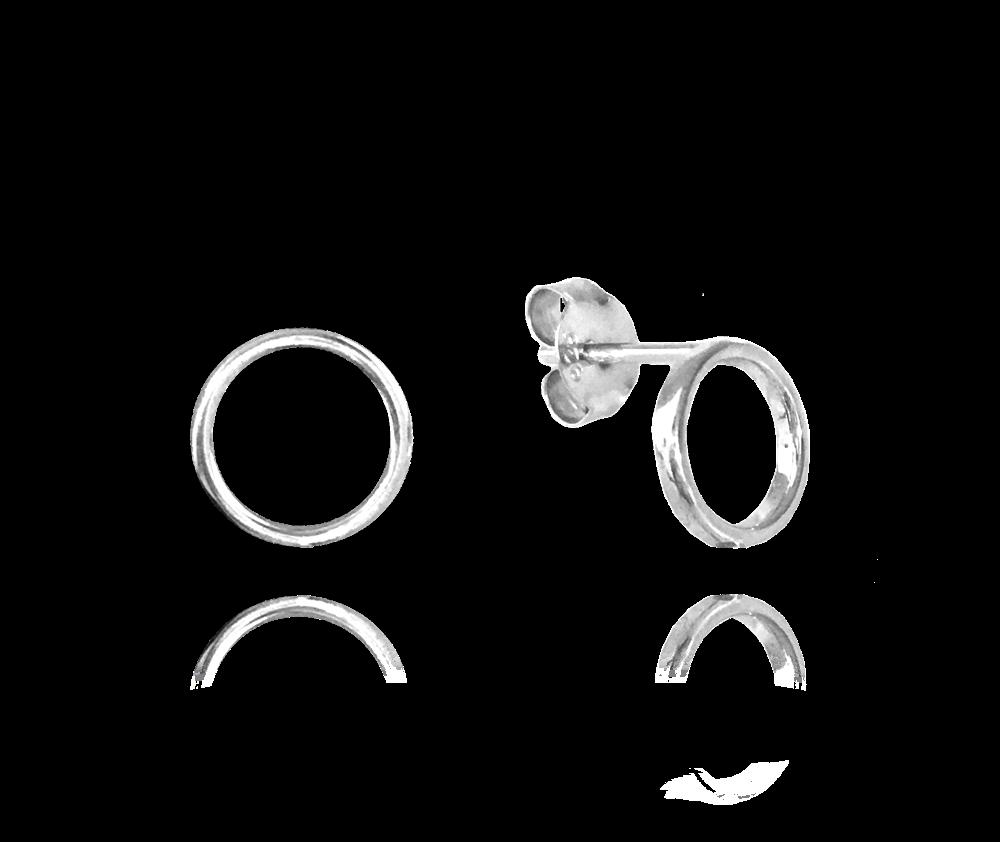 Minimalistické stříbrné náušnice MINET KROUŽKY JMAS0089SE00