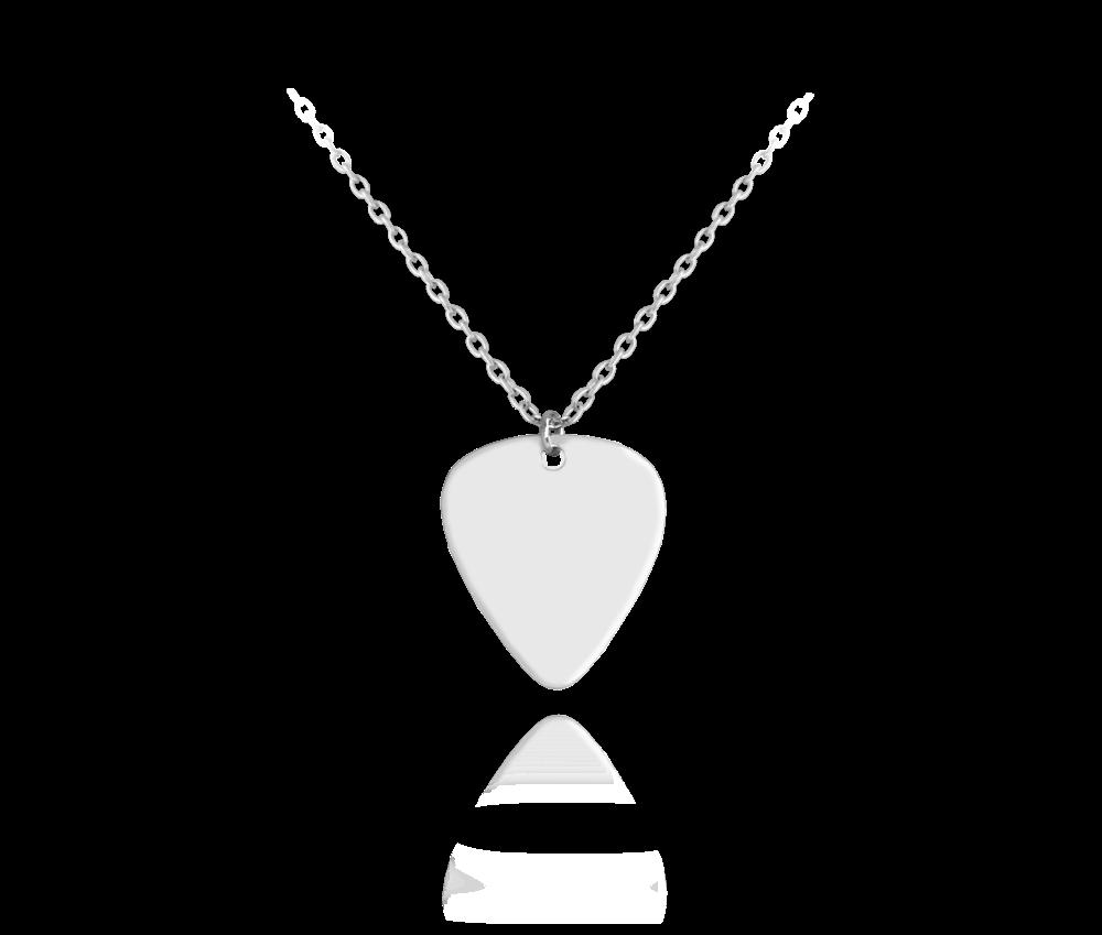 Lesklý stříbrný náhrdelník MINET TRSÁTKO