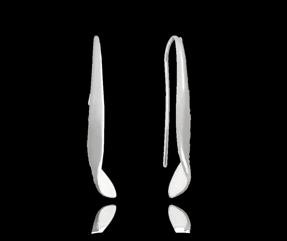 MINET Lesklé kroucené stříbrné náušnice MINET JMAN0204SE00