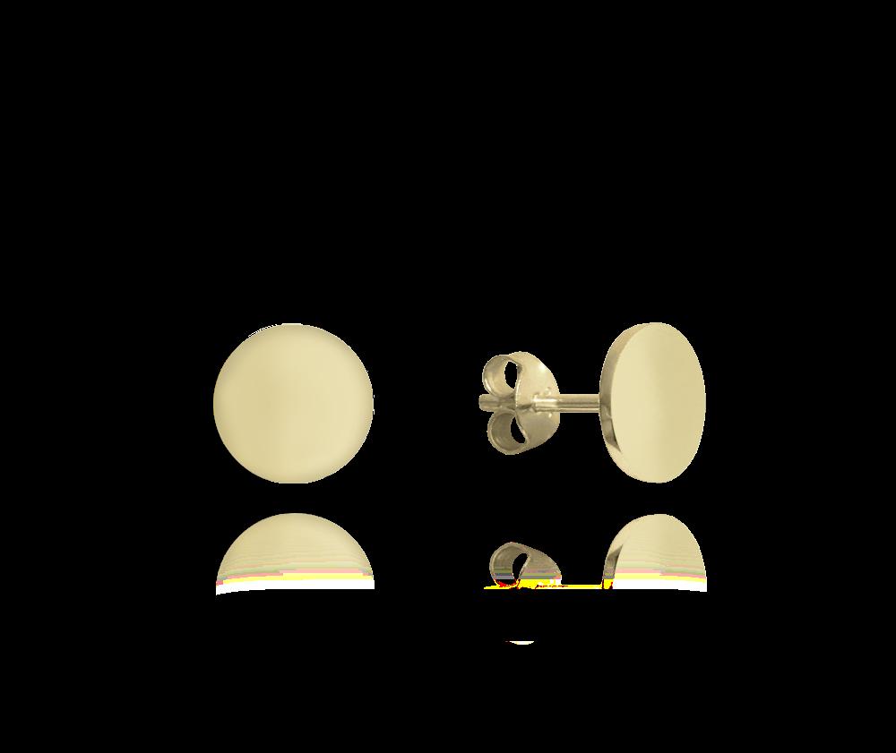 MINET Pozlacené lesklé stříbrné náušnice MINET 9 mm JMAN0181GE09