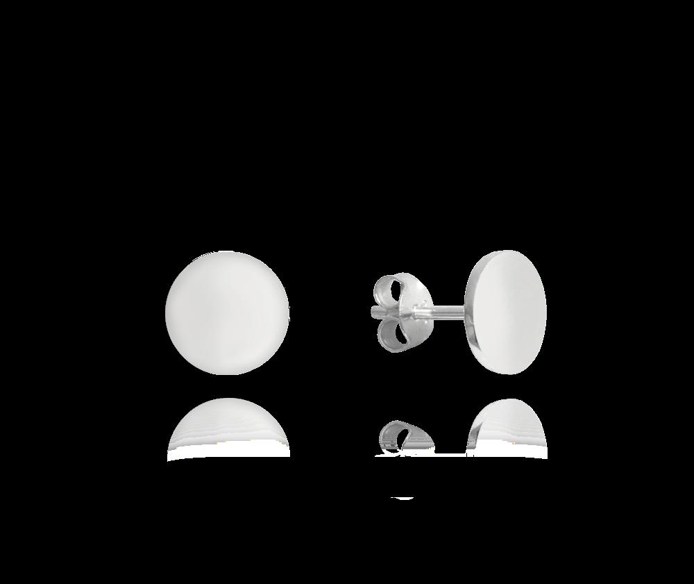 MINET Stříbrné lesklé náušnice MINET 9 mm JMAN0181SE09