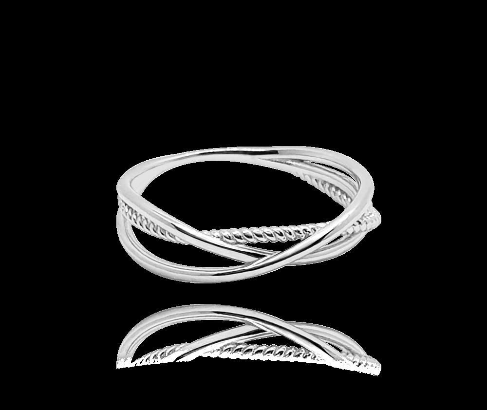 Překřížený stříbrný prsten MINET vel. 55