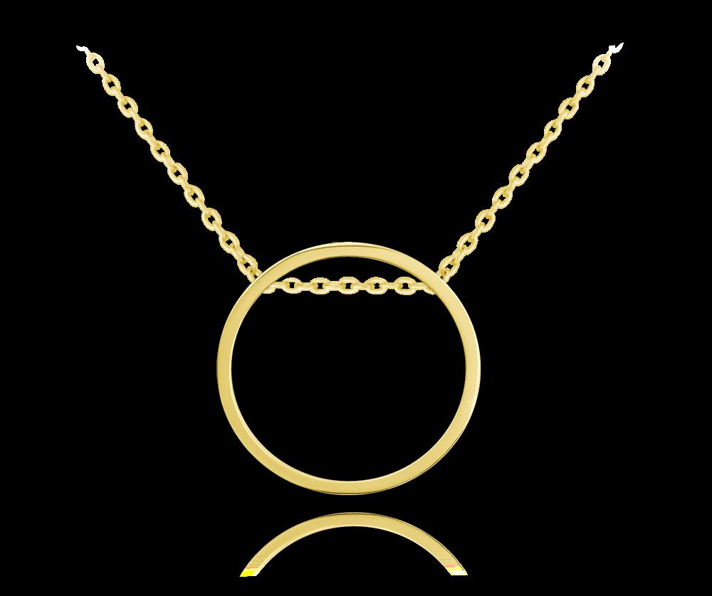 Pozlacený kruhový stříbrný náhrdelník MINET