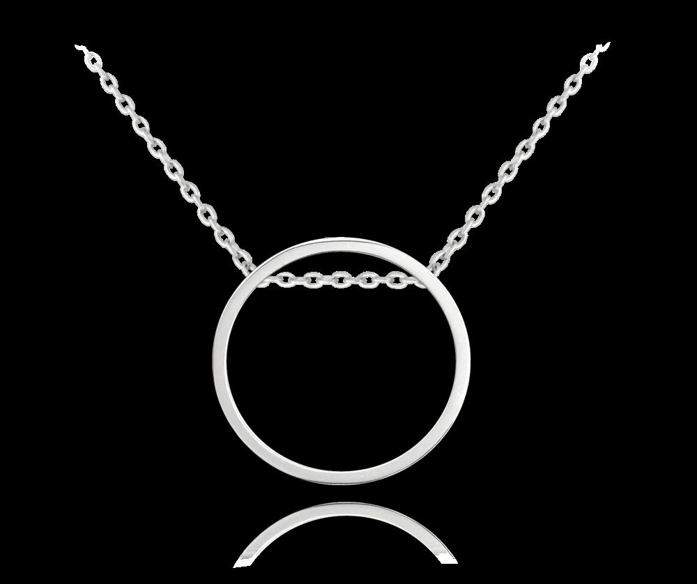 Kruhový stříbrný náhrdelník MINET