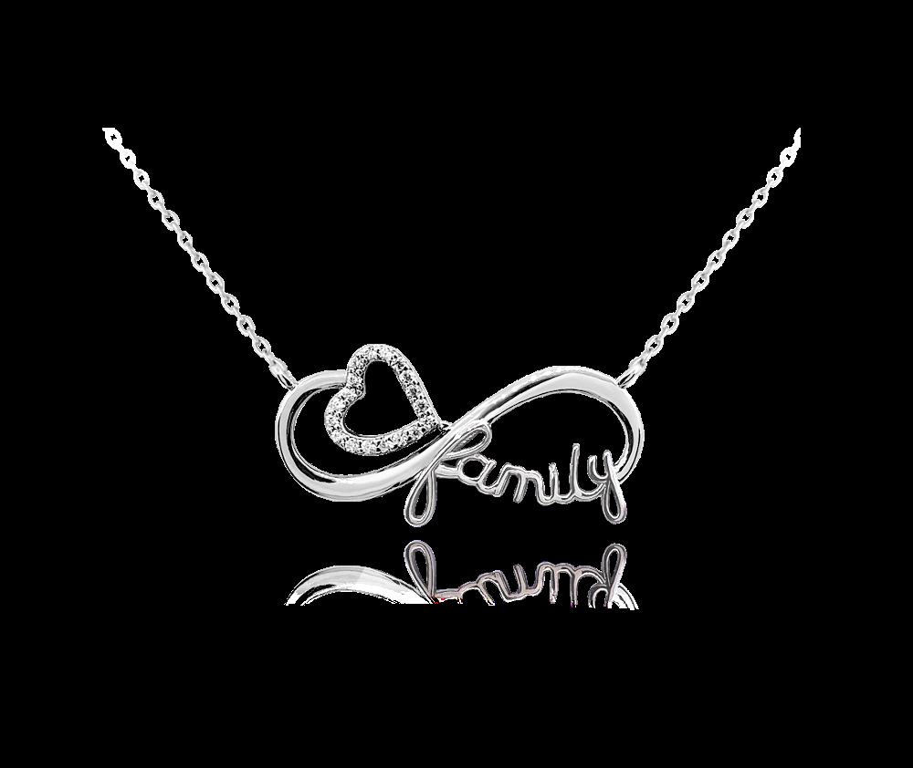 Stříbrný náhrdelník MINET FAMILY
