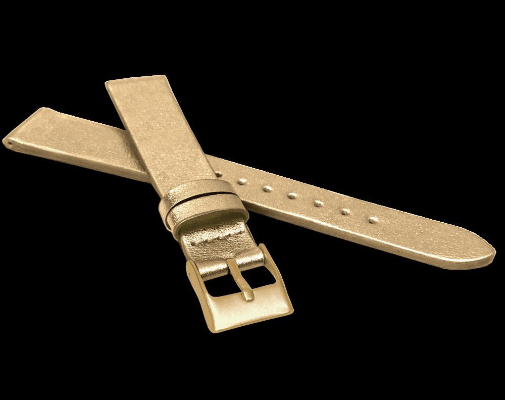 MINET Zlatý řemínek MINET z luxusní kůže Top Grain - 18  MSSUX18