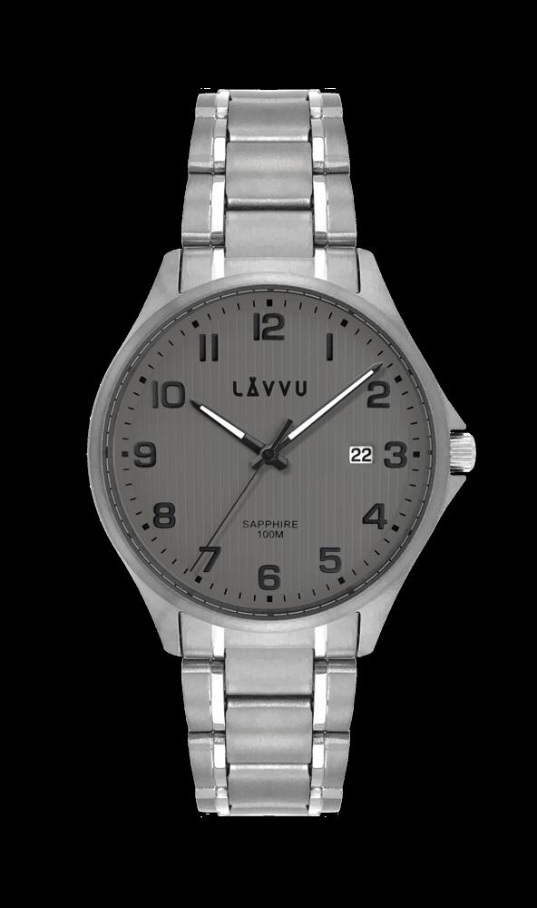 Titanové hodinky se safírovým sklem LAVVU TITANIUM LILLEHAMMER Gray