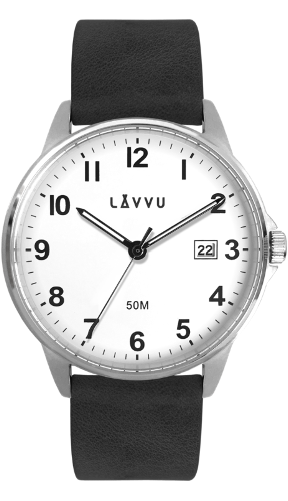 Černé hodinky LAVVU GÖTEBORG