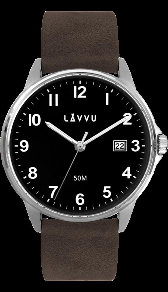 Tmavě hnědé hodinky LAVVU GÖTEBORG