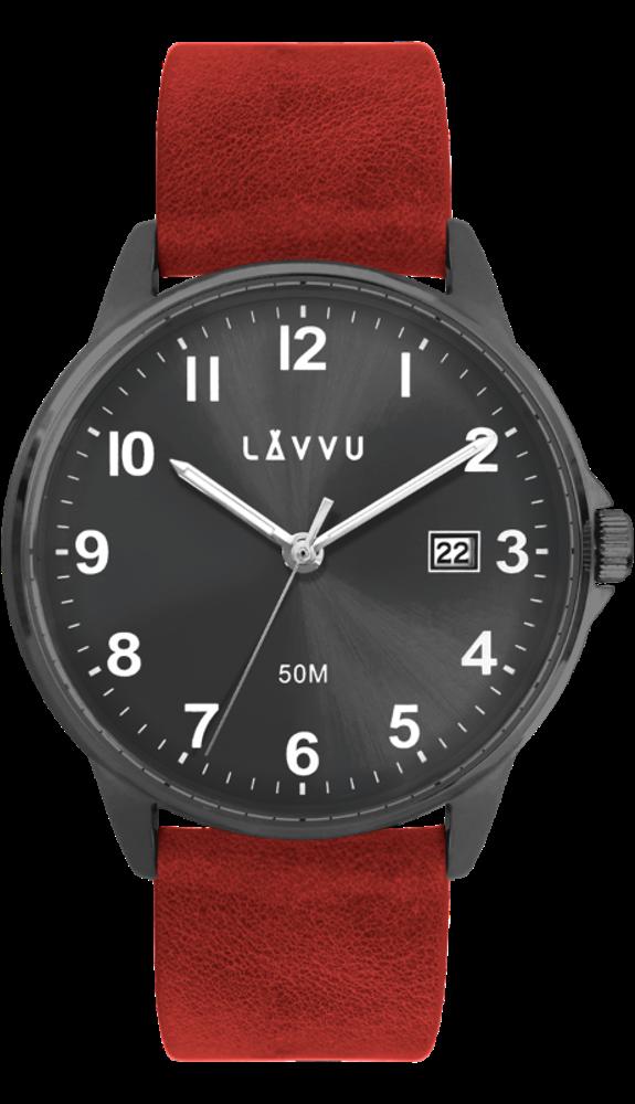 LAVVU Červené hodinky LAVVU GÖTEBORG LWM0113