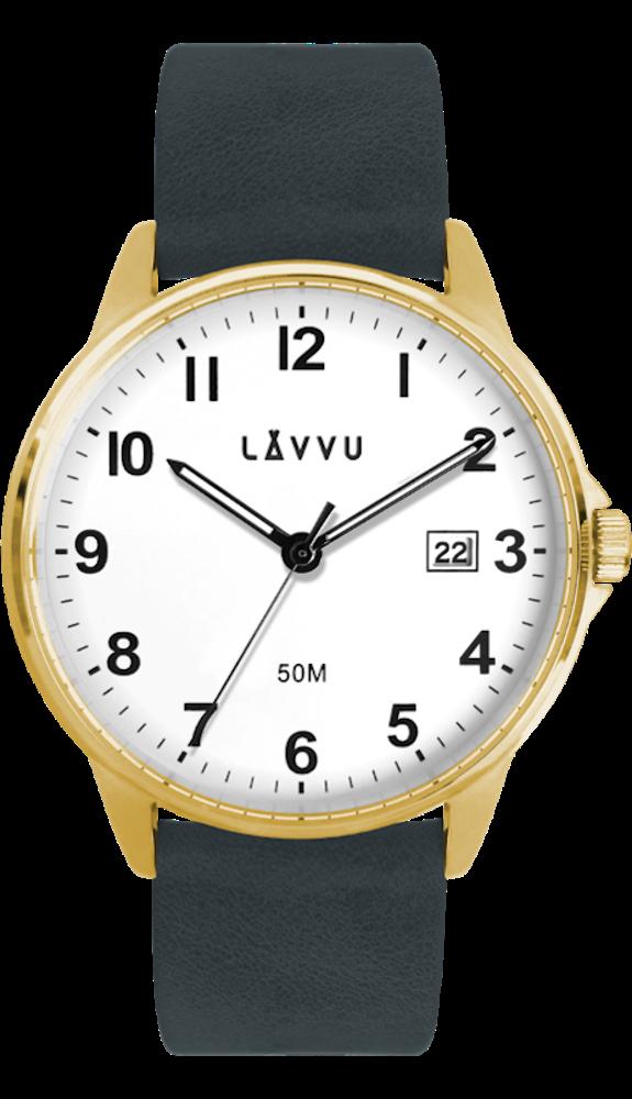 LAVVU Modro-zlaté hodinky LAVVU GÖTEBORG LWM0114