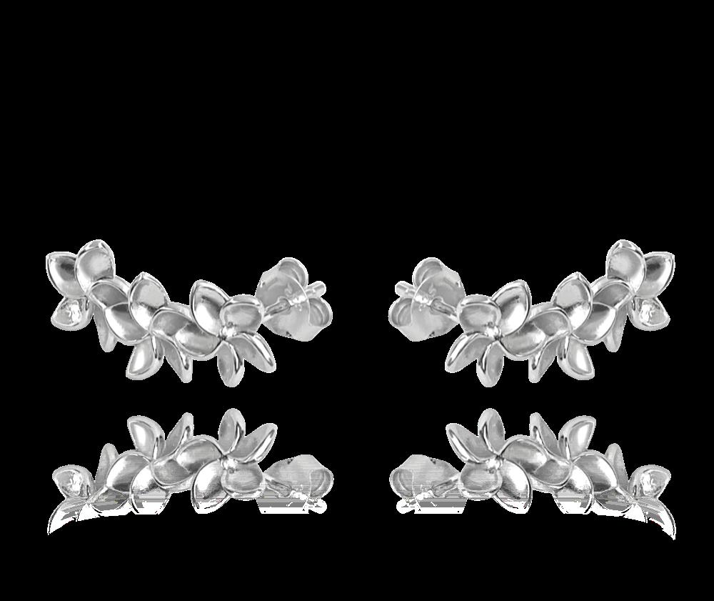 Stříbrné náušnice MINET KYTIČKY