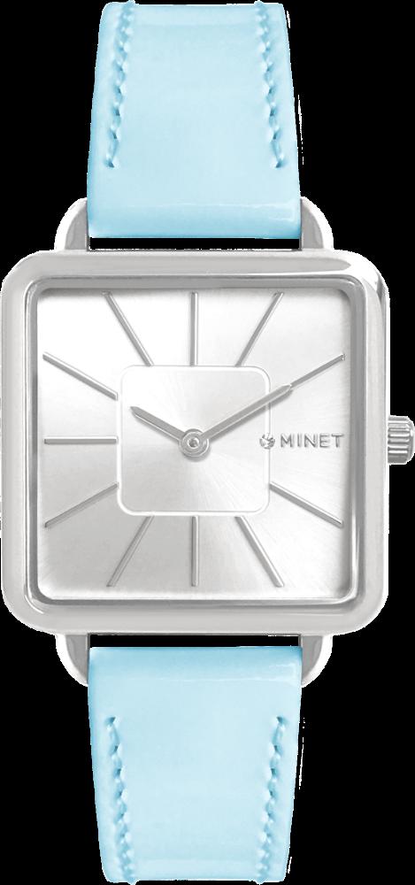 Modré dámské hodinky MINET OXFORD PASTEL BLUE
