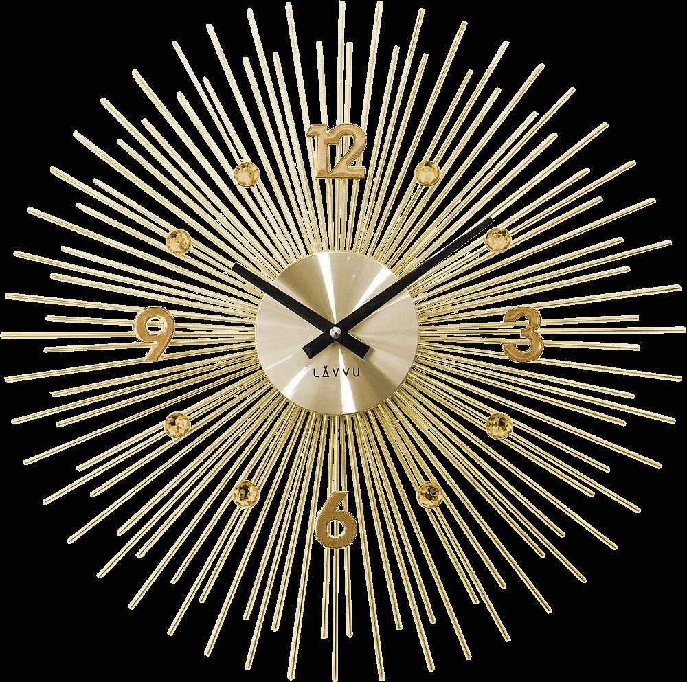 LAVVU Zlaté hodiny LAVVU CRYSTAL Lines LCT1142