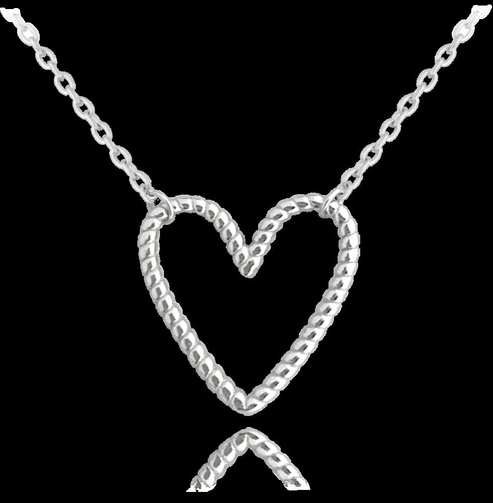 MINET Stříbrný náhrdelník MINET SRDCE JMAN0229SN45