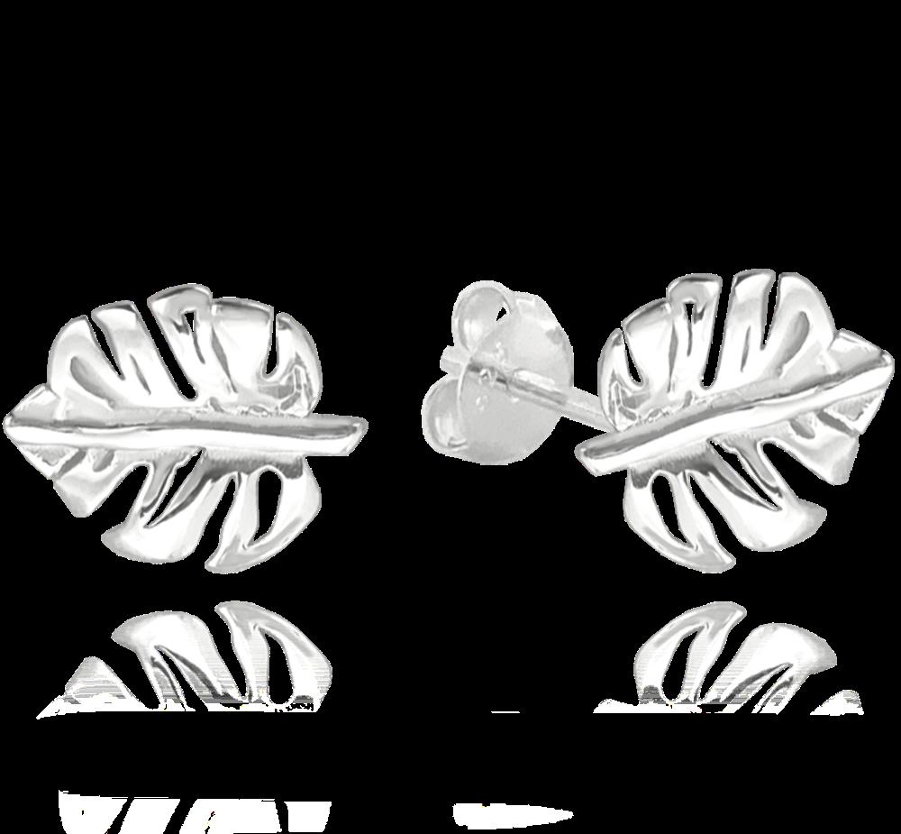 MINET Stříbrné náušnice MINET MONSTERA JMAS0109SE00