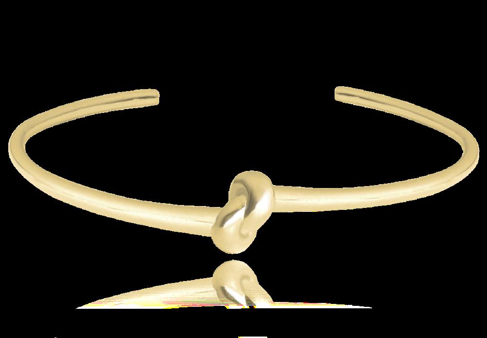 Pozlacený pevný stříbrný náramek MINET s uzlíkem