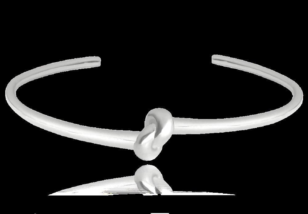 MINET Pevný stříbrný náramek MINET s uzlíkem JMAN0231SB00