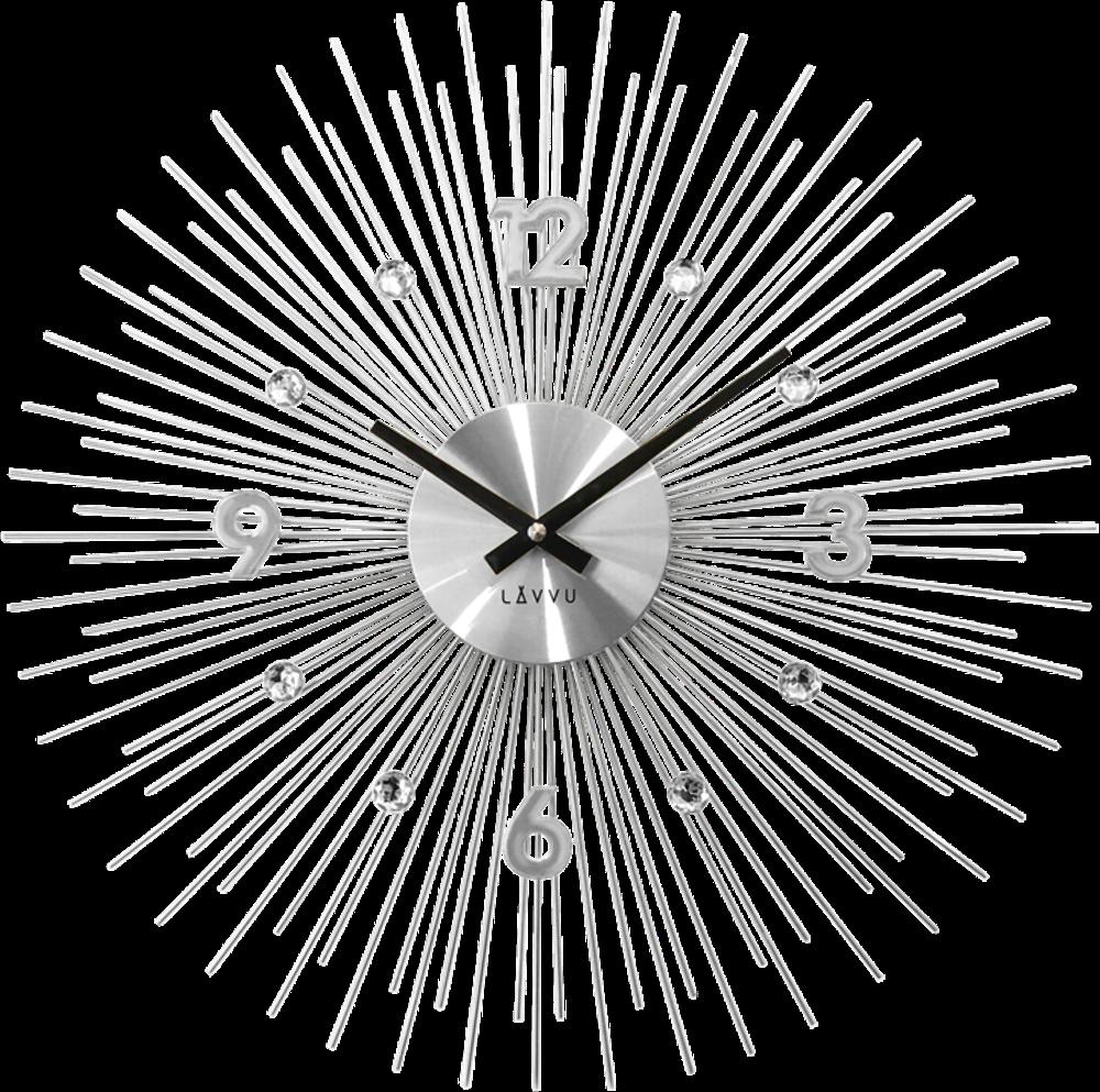 LAVVU Stříbrné hodiny LAVVU CRYSTAL Lines LCT1140