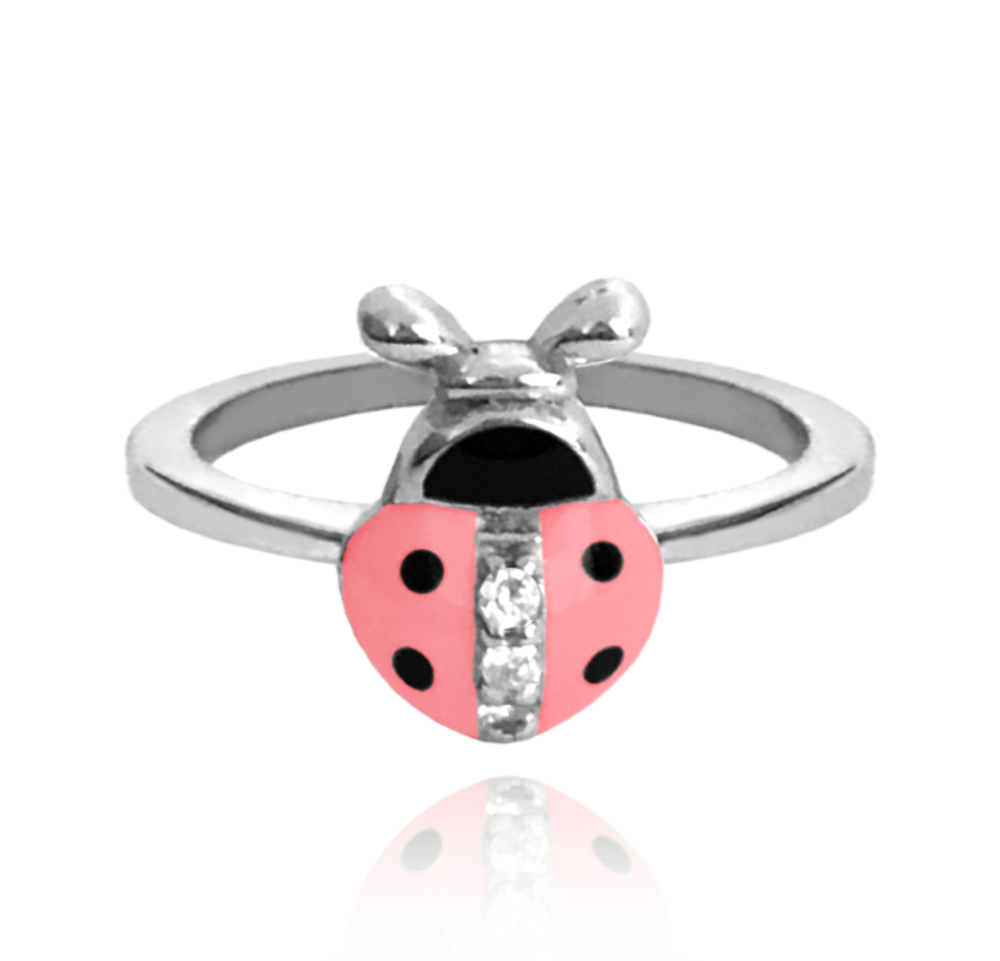 MINET Stříbrný prsten MINET RŮŽOVÁ BERUŠKA vykládaná zirkony vel. 44 JMAD0001PR44
