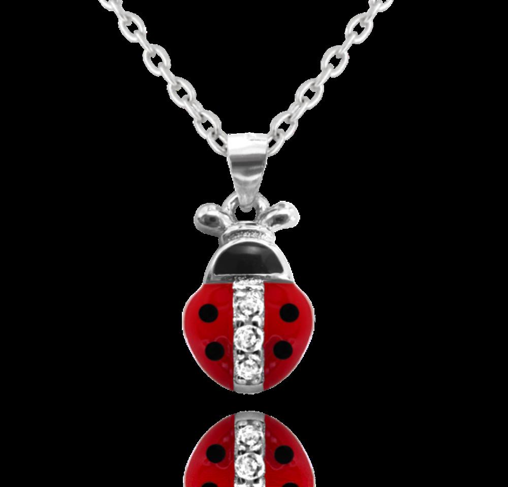 Stříbrný náhrdelník MINET BERUŠKA vykládaná zirkony
