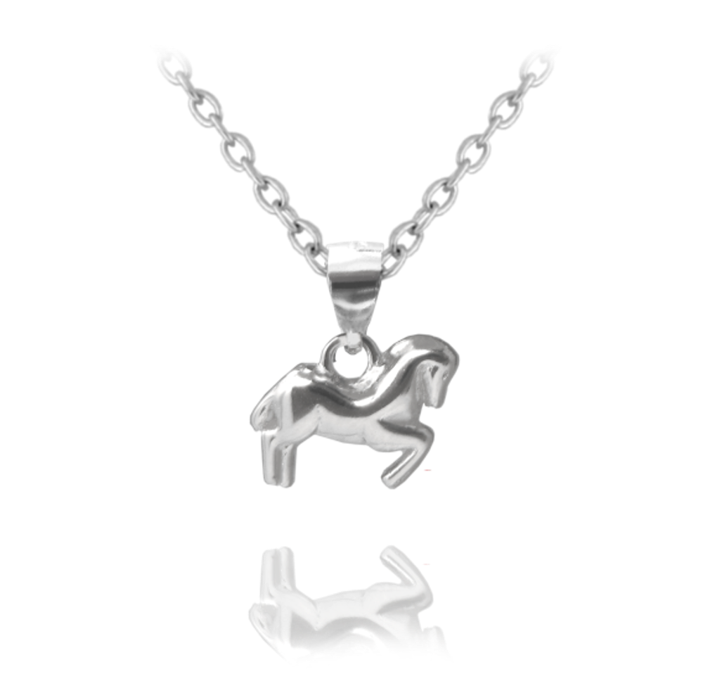 Stříbrný náhrdelník MINET KONÍK