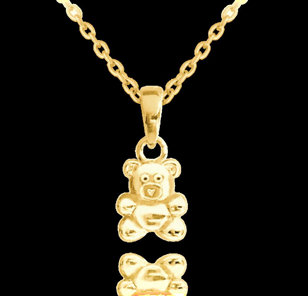 Pozlacený stříbrný náhrdelník MINET MEDVÍDEK