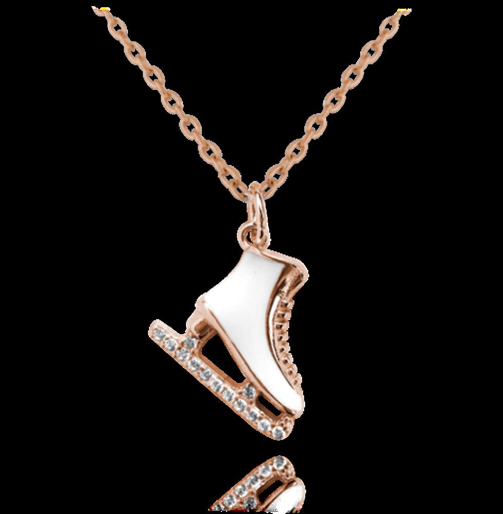 Rose gold stříbrný náhrdelník MINET BRUSLIČKA