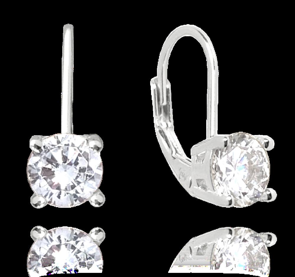 MINET Stříbrné náušnice MINET s bílým zirkonem JMAD0022WE00