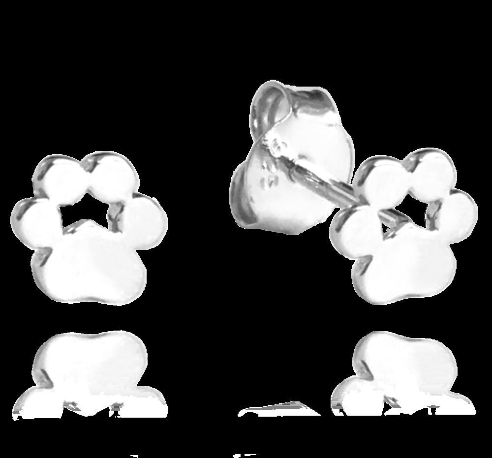 Stříbrné náušnice MINET TLAPKY