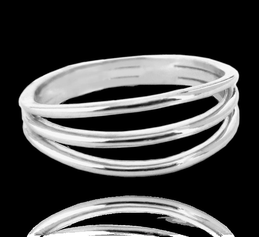 MINET Trojitý stříbrný prsten MINET vel. 58 JMAN0048SR58