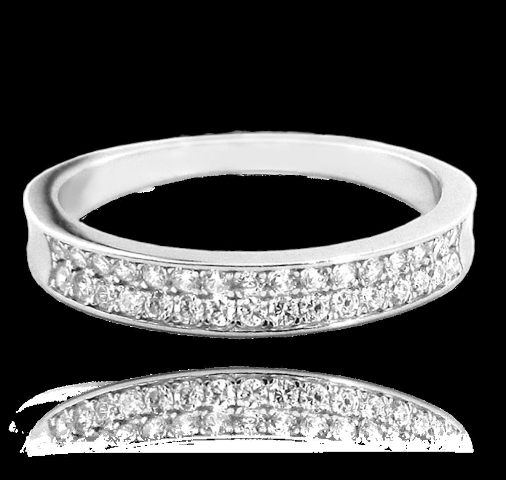 MINET Stříbrný prsten MINET s bílými zirkony vel. 59 JMAN0051SR59