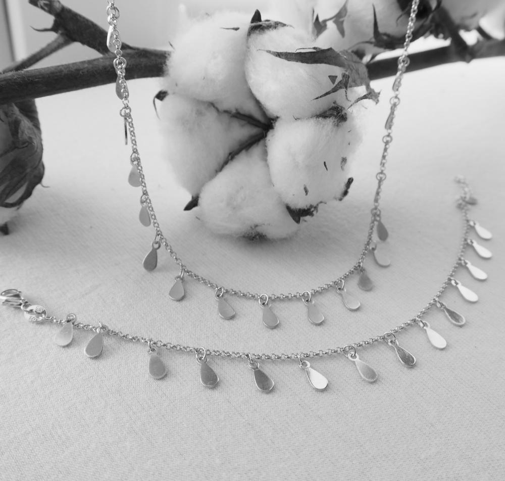 Pozlacený stříbrný náhrdelník MINET s drobnými přívěsky