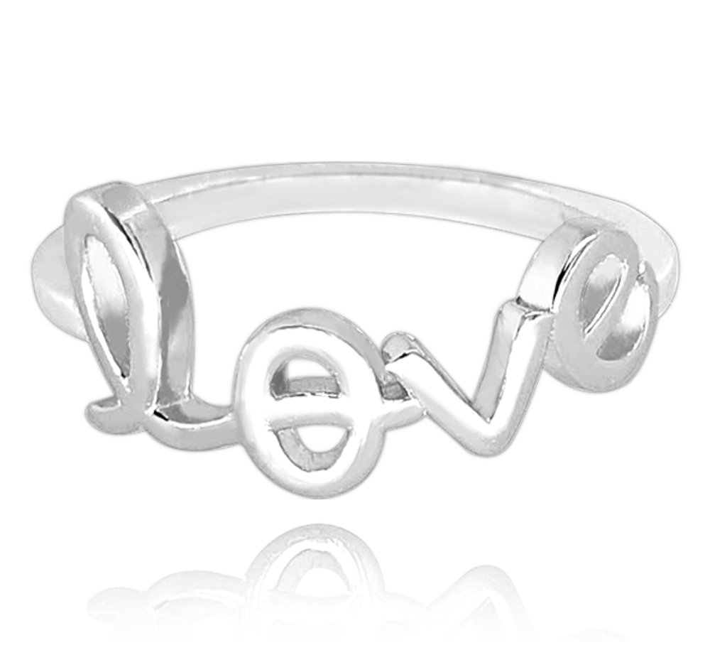 Stříbrný prsten MINET LOVE vel. 57