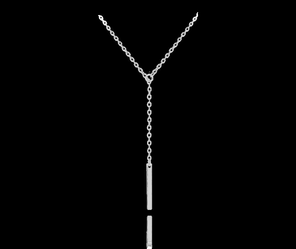 Protahovací stříbrný náhrdelník MINET TYČKA