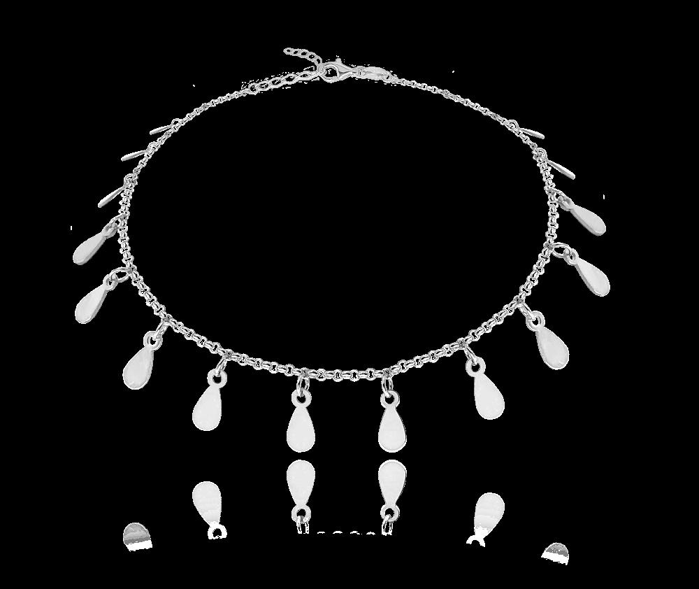 Stříbrný náramek MINET s drobnými přívěsky