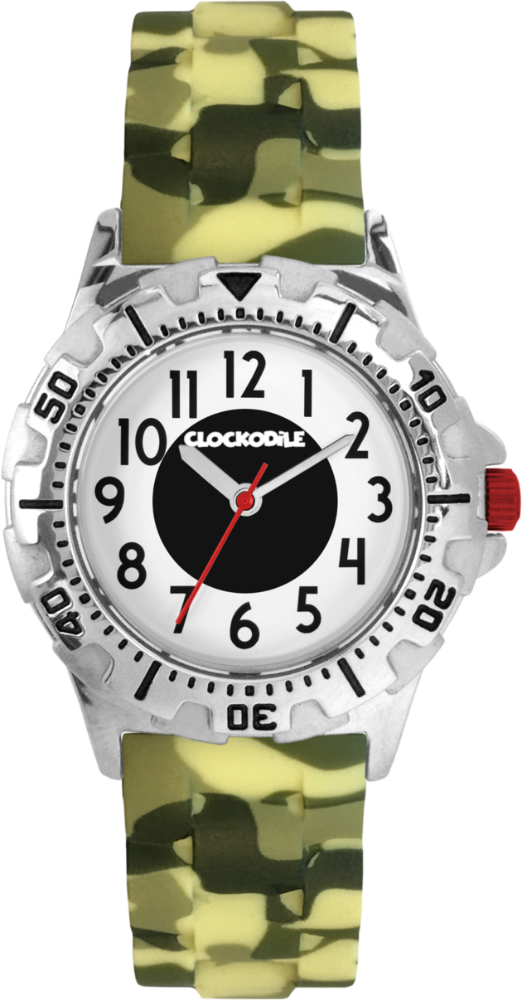 CLOCKODILE Svítící maskáčové sportovní chlapecké dětské hodinky CLOCKODILE SPORT 3.0 CWB0044