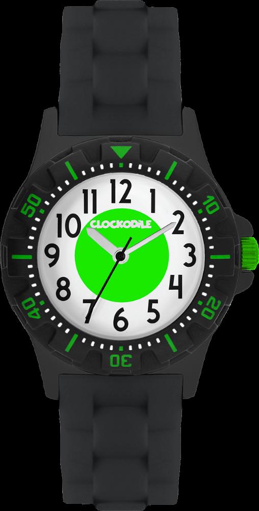 CLOCKODILE Svítící černo-zelené sportovní dětské chlapecké hodinky CLOCKODILE SPORT 3.0 CWB0048