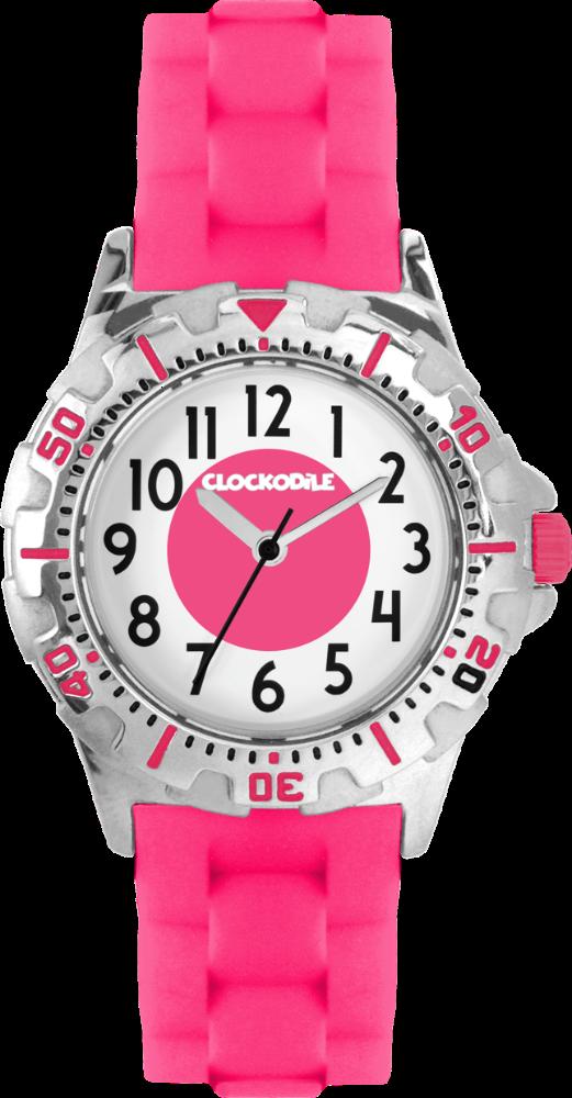 CLOCKODILE Svítící růžové sportovní dívčí dětské hodinky CLOCKODILE SPORT 3.0 CWG0040