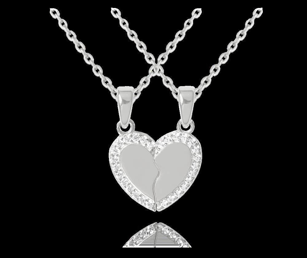 Stříbrný náhrdelník přátelství MINET FRIENDS FOREVER