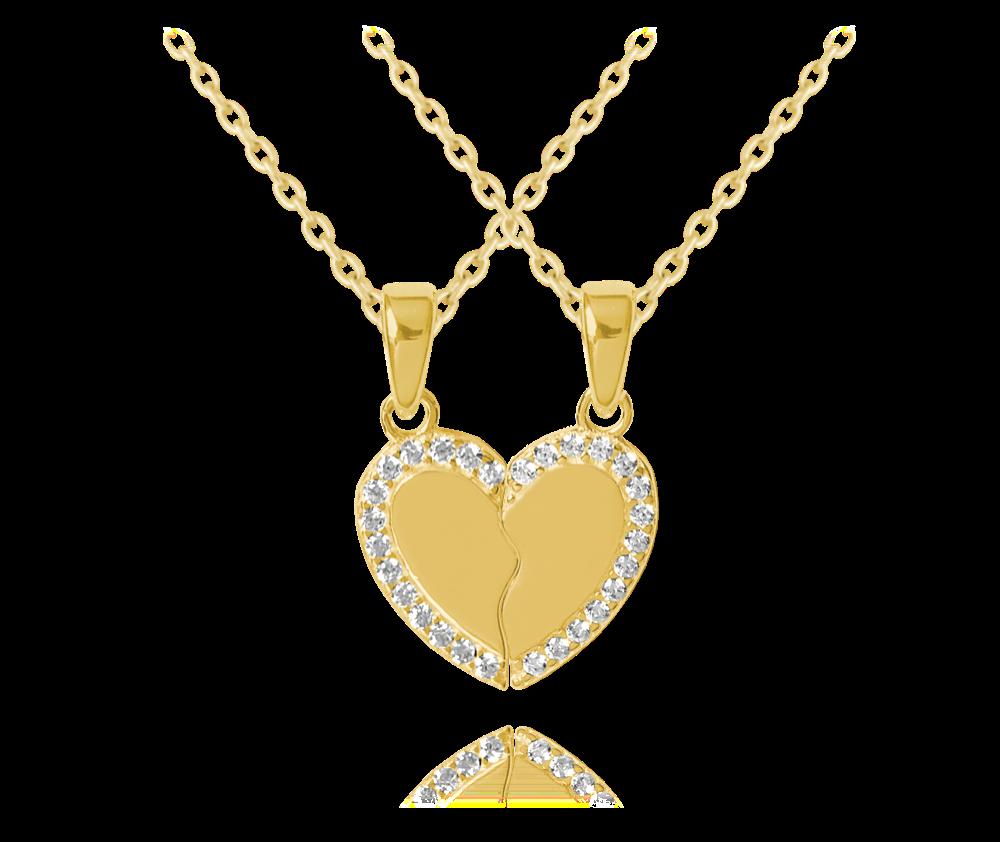 MINET Pozlacený stříbrný náhrdelník přátelství MINET FRIENDS FOREVER JMAN0221GN45