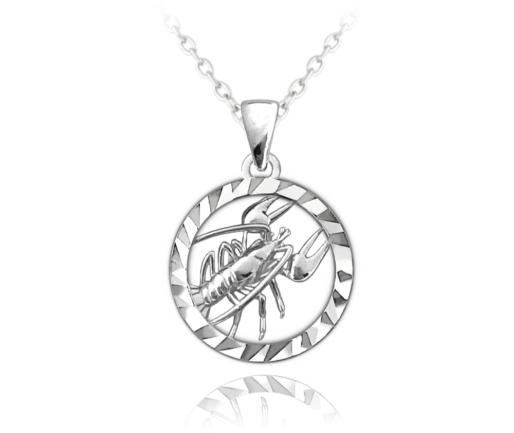 Stříbrný náhrdelník MINET Zodiac znamení RAK
